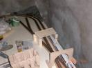 Die hintere Anlagenkante mit aufgelegter Brücke und dem Testportal
