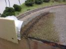 Der Entwässerungsgraben entsteht.