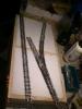 Der Rahmen mit Styroporeinlage. Die Schienen sind schon mal zur Probe ausgelegt.