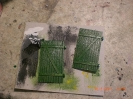 Die Tore in frischem Grün.