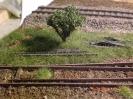 Die alte Weiche vor dem Schienenhaufen