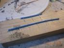 Diesesmal die Isolierung des Kabels halbiert und der dünne Draht für die Halterungen.