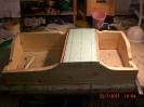 Der Kasten für das Diorama. Verwendet habe ich gehobelte Rahmenbretter 120 x 12mm.