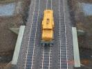 Die fertigen Gleise von oben.