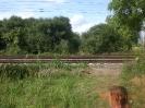 Hier war der Bahnübergang.