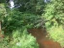 Der Bach südlich der Brücke.