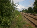 Dahinter liegen dann die Gleise.
