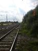 Richtung Westen liegt das Piesteritzer Industriegebiet. Das rechte Gleis dient als Abstellgleis und deshalb gibt es auch hier einiges an Unkraut.