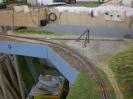 das Gleis ist gealtert und das Gelände wurde nochmals lasiert