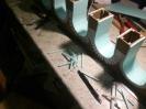 Die Bögen entstehen aus vielen 5mm breiten Streifen.
