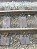 ein Stück Gleis mit Betriebsspuren