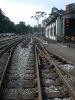 neben dem Lokschuppen ist Bahnsteig 2