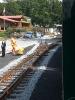 da hinten ist der Bahnhof zu Ende